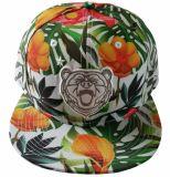 Bordado plano tapa Snapbak Hat con la impresión