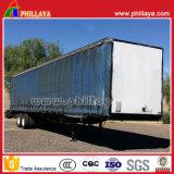 Lona de PVC de 3 eixos de Carga do Veículo Van Box Curtainside semi reboque
