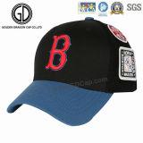 2016編まれたバッジが付いている新しいデザイン時代の刺繍の野球帽