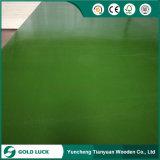 緑か青いですまたはカスタマイズされたカラーPVCプラスチック上塗を施してある再使用されるか、またはフィルムは合板に直面した