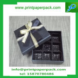 Rectángulo de papel de la boda de encargo con el rectángulo de la cinta/del chocolate