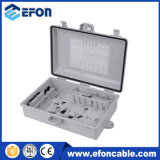 Caixa 24fiber terminal ao ar livre do material FTTH de PC/ABS/Caja Fibra Optica 24salidas
