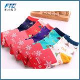 Altos calcetines gruesos suavemente calientes de la hembra de la Navidad de la compresión de Coolmax