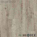 De configuration en bois blanche de couleur de colle plancher arrière sec de PVC de vinyle vers le bas