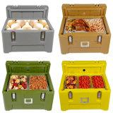 65L houd de Warme of Koelere Doos van de Levering van het Voedsel Container Geïsoleerden Plastic, de Doos van de Isolatie van de Hitte voor de Levering van het Voedsel