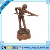 ホーム装飾のための最高と評価された卸し売り樹脂のスポーツマンの彫像