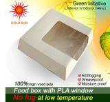 Caixa de papel da caixa de papel frente e verso do empacotamento de alimento