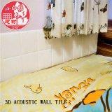 Panneau auto-adhésif décoratif de PVC 3D Soundabsorb pour la chambre à coucher
