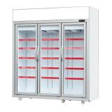 Porta de vidro Multideck Vertical freezer comercial vitrina frigorífica