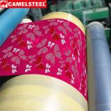 Hoja de acero cubierta color de la bobina del Galvalume de PPGI para la placa de pared