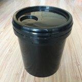 Usine de gros de la vente directe des seaux en plastique noir de 16 litres avec poignée et couvercle