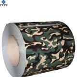 Usine de revêtement de finition couleur camouflage alliage en aluminium recouvert de feuille