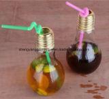 Lampen-Glasflasche/trinkender Becher-/Maurer-Glas-Spray färbt Flasche mit Metalldeckel