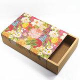Flores de papel Kraft impreso reutilizable Caja Cajón de regalo galletas dulces Embalaje