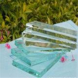 Le verre trempé clair 12mm avec bords polis