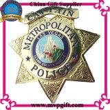 金属の警察は3Dロゴと記章を付ける(m-B05)