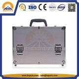 주문 알루미늄 장식용 아름다움 메이크업 상자 (HB-1201)