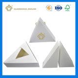 Сформированная треугольником бумажная крышка коробки подарка & низкопробная упаковывая коробка/коробка в коробке