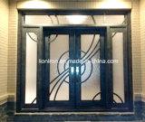 Porte coulissante automatique métal français en fer forgé porte d'entrée de Stock