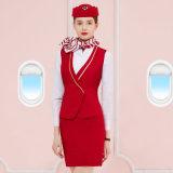 Fabrik Großhandelsc$anti-knicke Fluglinien-Fußleisten-konstantes Kleid für Frauen