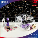 Caixa de armazenamento de organizador de maquiagem de acrílico transparente