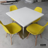 Rond blanc Tables Fast Food moderne