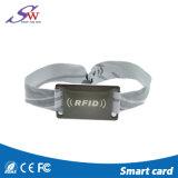 Wristband de una sola vez de la tela del Hf 13.56MHz S50 RFID