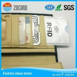 Al por mayor de diseño personalizado tarjeta de identificación del Banco Shiled Información protector