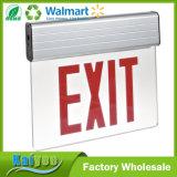 L'iscrizione rossa rotativa LED del montaggio di superficie illumina il segno dell'uscita dell'indicatore luminoso di bordo