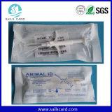 Puces et seringue remplaçables de tag RFID pour le management d'animal familier