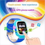 Водонепроницаемый сенсорный экран детей GPS Tracker смотреть на нескольких языках (D15)