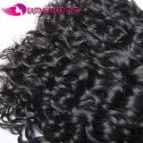 Волосы волны воды перуанские связывают уток 100% Remy человеческих волос
