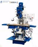 El moler vertical universal del taladro de la torreta del metal del CNC y perforadora para la herramienta de corte X6332cw-2 con la pista de eslabón giratorio de Dro de 3 ejes