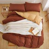 アマゾンEbayベストセラーの固体シーツの羽毛布団カバー