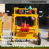 Pressa mobile del blocchetto del mattone del cemento che si situa facendo macchina