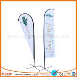 Feria de Muestras de la capa de tres banderas de plumas promocionales
