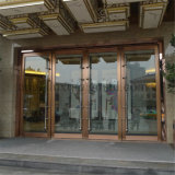 Fait dans le fini de délié de bronze de cadre de porte d'acier inoxydable d'entrée d'hôtel de la Chine
