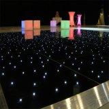 Suelo de baile de la luz de la estrella de Dance Floor del LED que centellea del azulejo negro de la danza