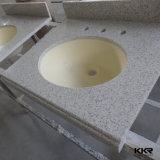 Salle de bains en granit, haut de la vanité de comptoir avec évier