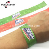 La RFID passive étanche Hf I Code Sli Bracelets jetables en papier pour la billetterie