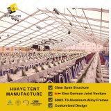 50X60mのガラス壁が付いている大きい玄関ひさしのテント