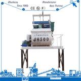 Js500 최신 두 배 Horizantal 샤프트 구체 믹서