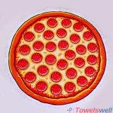 بيتزا يطبع [ميكروفيبر] [بش توول] مستديرة مع [تسّل]
