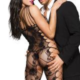 Venda por grosso de fábrica Fishnet negro abra Entreperna mulheres roupas íntimas