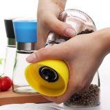 Smerigliatrice di vetro variopinta del vaso e del sale del pepe nero del vaso del pepe bianco
