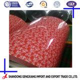 Hermoso diseño de flor PPGI bobinas de acero de China