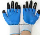 Нитриловые перчатки для рук с пальцем гладкой насильственных бумага с покрытием