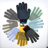 Usine! La Chine de haute qualité prix bon marché 7/10/PVC jauge 13 parsemé de coton ou de gants de travail en tricot de nylon avec poignée en caoutchouc anti-patinage points double faces