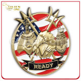 De haute qualité Nickel Plated Souvenir Custom Us Challenge Metal Coin