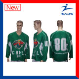 Le bon modèle de Healong folâtre des chemises de hockey sur glace de ligue d'université de sublimation de vitesse de vêtement